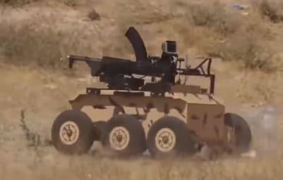 robot de combate Heidar-1 del ejército de Irán incorpora un arma de asalto