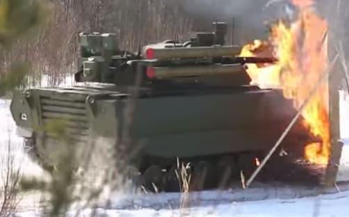 robot militar Uran-9 es un robot asesino del ejército Ruso creado por la empresa kalashnikov